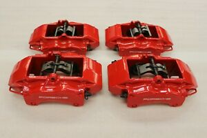 Porsche 997 996 Carrera 911 Turbo C4s S Front Rear Brembo Caliper Brake Red Set
