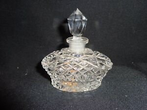 Antique Or Vintage Clear Pressed Glass Vanity Perfume Bottle From Irice