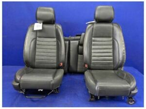 2011 2014 Ford Mustang Gt Premium Leather Front Rear Seats Hot Rod Restomod