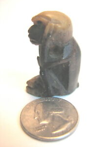 Antique Handcarved Chinese Stone Monkey Figurine