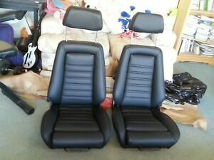 Recaro Seats Bmw E21 E10 German Vinyl Reupholstered Rebuilt Beautiful