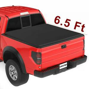 Oedro 6 5ft Tri Fold Bed Tonneau Cover Fit For 15 19 Ford F 150 Styleside