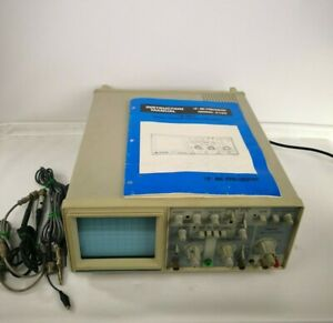 Bk Precision 2120 Dual Trace 20 Mhz Dual Trace Oscilloscope Manual Probes Tested