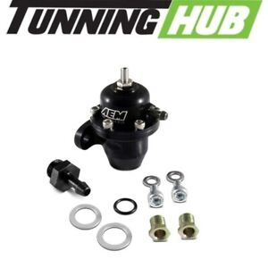 Aem 25 300bk Adjustable Fuel Pressure Regulator For Honda Acura Black
