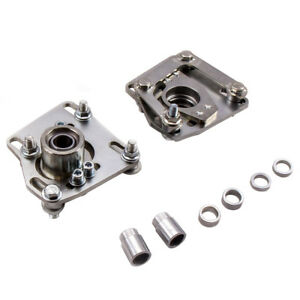 Coilover Alignment Adjustable Camber Caster Plate Kit For 1995 1999 Ford Mustang