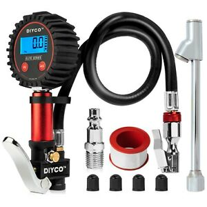 Diyco D3 Digital Tire Inflator With Pressure Gauge 150 Psi Elite Series