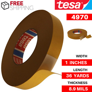 Double Sided White Pvc Tape 36 Yds X 1 X 8 9 Mils Tesa 4970 Easy Application