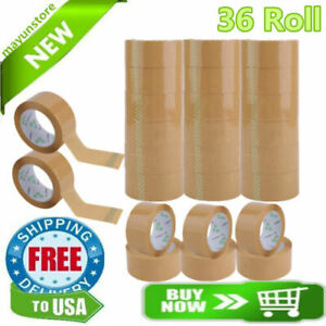 36 Rolls Packing Tape Lot Carton Box Sealing Package Clear 2 x110 Yards 330ft Mx