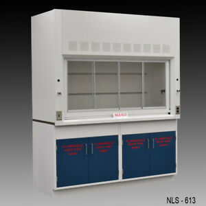 6 Chemical Fume Hood Including W 2 Flammable Cabinets Fisher American E2 111