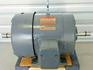 General Electric Tri clad Induction Motor 7 5 Hp Dual Shaft