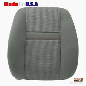 2006 2007 2008 2009 Dodge Ram 2500 3500 Front Driver Top Cloth Seat Cover Gray