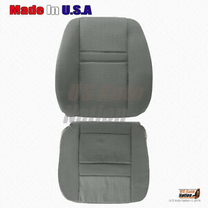2006 2007 2008 Dodge Ram 1500 Driver Bottom Upper Top Cloth Seat Cover In Gray