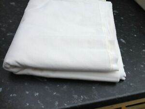 Vintage Linen Cotton Sheet French Origin Natural Unbleached Colour Ref Fcl1