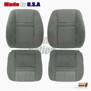 Front Bottoms And Tops Cloth Seat Cover In Gray 2006 2007 2008 Dodge Ram 1500