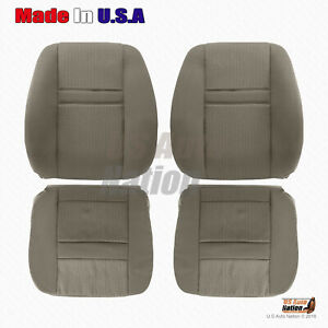 2006 2007 2008 Dodge Ram 1500 Front Bottoms And Tops Cloth Seat Cover Khaki Tan
