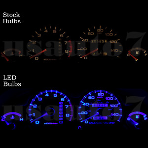 Dash Instrument Cluster Gauge Blue Led Lights Bulbs Kit Fits 90 93 Acura Integra