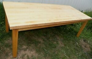 36 X 84 Vintage Rock Maple Butcher Block Top Farm Table Wood Dining Bench Work