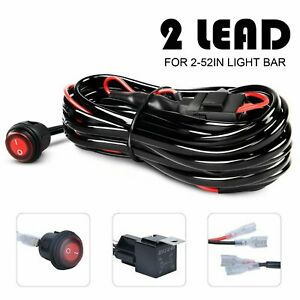 Wiring Harness Led Light Bar 40amp Relay Fuse On Off Switch 2 Lead