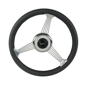 Grant 1050 Classic Banjo Steering Wheel Black Leather Rim 14 3 4 Inch