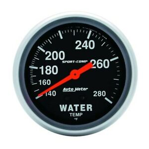 Autometer 3431 Sport Comp Mechanical Water Temperature Gauge