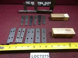 Thin Angle Standard Parallel Set 3 Machinist Squares Lot Of 17 Loc7275