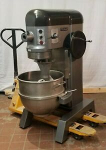 Hobart L800 80 Qt Mixer 3 Phase 208v 1 5 Hp Stainless Bowl Hook More