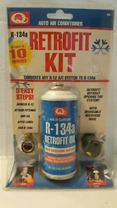 Id Quest Auto Air Conditioning Retrofit Kit With Ac Oil R 12 R 134a Conversion
