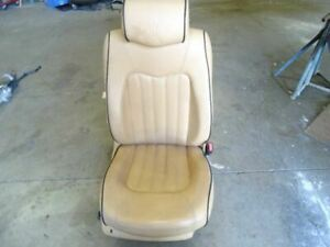 05 Maserati Quattroporte M139 Front Right Passenger Side Leather Seat Beige