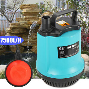 New 150w 7500l h Submersible Dirty Water Pump Flooding Pond Clean Swimming Pool