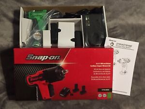 New Snap On Ct761agk2 14 4v Microlithium Cordless Impact Wrench Kit 2 Batteries