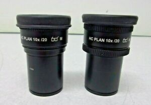 Leica Hc Plan 10x 20 Microscope Eyepiece Ocular Pair 507802 30mm Diameter