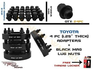 24pc M12x1 5 Black Oem Mag Lug Nut Kit 4pc 6x5 5 Toyota Hubcentric Adapters