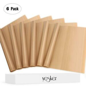Yesker 6 Pack Teflon Sheet For 16x20 Heat Press Transfer Sheet Limited Time