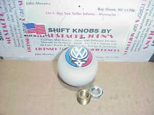 Vw Grateful Dead Steal Your Face Custom Shift Knob solid White