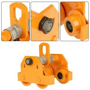 1 Ton Steel I beam Push Beam Track Roller Trolley Beam Girder Precision Tool Usa