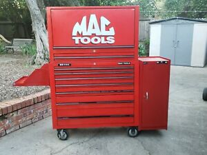 Mac Tools Mb1100 Tool Box Roll Away Storage Chest Garage Red Large Shop Boxes