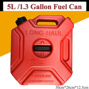 Fuel Can Portable Gas Diesel Petrol Fuel Tank Spare Container Atv Motorcycle 5l
