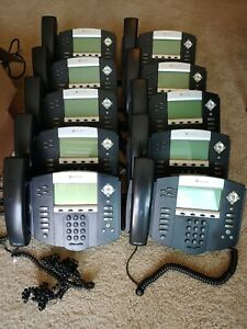 Lot Of 10 Polycom Soundpoint Phones Ip550 With Handsets Bases Read