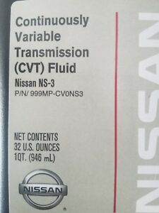 Case Of 6 999mp Cv0ns3 Nissan Genuine Ns 3 Cvt Transmission Fluid 6 Quarts Oil