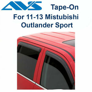 Avs 4pc Tape On Window Vent Visor For 11 13 Mitsubishi Outlander Sport 94191