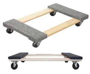 2 Pack Furniture Dolly Moving Dollies 4 Wheel Heavy Duty Appliance Cargo Cart