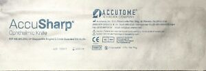 Accutome Ophthalmic Slit Knife Mvr Angled 19g ref Ab avr19ag