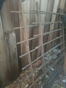 Vintage Wrought Iron Fence Panels
