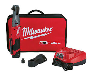 Milwaukee M12 Fuel 3 8 Dr 55 Ft Lb Cordless Ratchet Wrench Kit Boot 2557 21