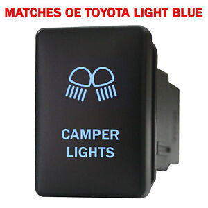 Push Switch 9b80nb 12volt For Toyota Oem Camper Lights Tacoma Led New Blue
