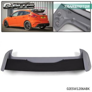 Rs Style Rear Roof Wing Spoiler For 2012 2018 Ford Focus Hatchback Black