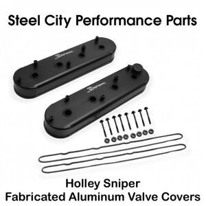 Holley Sniper Fabricated Aluminum Ls Valve Covers W Gaskets Bolts 890014b