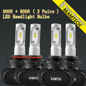 9005 9006 Led Headlight Bulbs Kit For 1990 2012 Honda Accord 2004 15 Civic Sedan