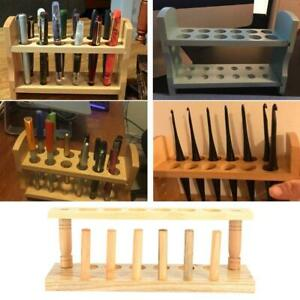 Wooden Test Tube Stand 6 8 10 12 Holes With Drying Rack Practical Lab Equipment