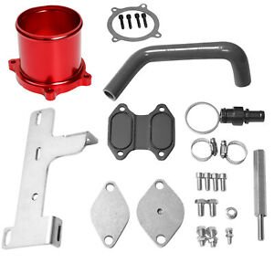 Fit 2010 2016 Dodge Ram 6 7l Cummins Egr Cooler Throttle Valve Delete Kit Red